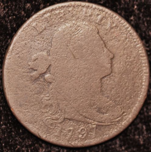 1797 1C LARGE CENT S-120B R2 GRIPPED EDGE VERY GOOD