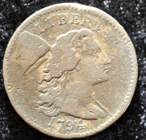 1794 1C LIBERTY CAP HEAD OF 1794 S-46 R3 . TOUGHER VARIETY