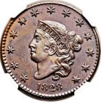 1828-1C-LARGE-CENT-CORONET-HEAD-LARGE-NARROW-DATE-MS61-BN-N-9-R4-NGC-291647234233