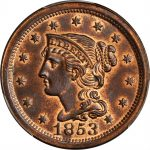 1853-Braided-Hair-Cent-N-33-Rarity-2-Noyes-Die-State-AA-MS-65-RB-PCGS-CAC-291651681719