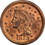 1853-Braided-Hair-Cent-N-5-Rarity-2-Noyes-Die-State-AB-MS-65-RB-PCGS-CAC-291651674018